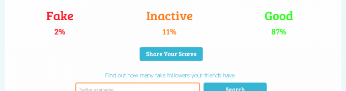 StatusPeople fake follower score for @AdamJaffrey 2012.08.17 1245